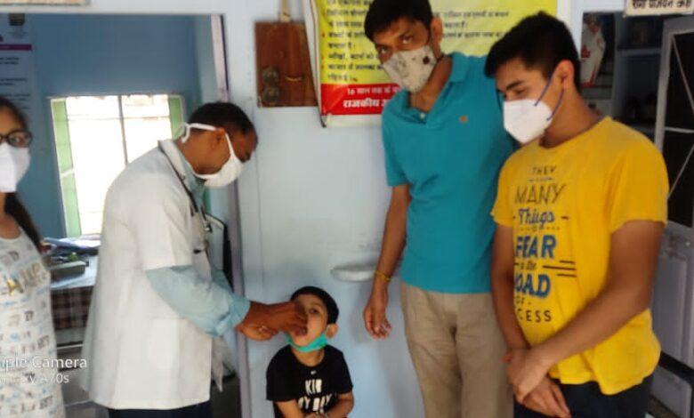 183 बच्चों को रोग प्रतिरोधक क्षमता वर्धक स्वर्णप्राशन नि:शुल्क करवाया